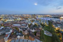 Observing view of Cityscape in the evening, Hamburg, Germany — Stock Photo