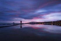 Сполучені Штати Америки, Шотландії, Східний Лотіан, Північний Бервік при сходом сонця — стокове фото
