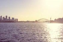 Australia, Sydney, view to Sydney Harbour Bridge at backlight — Stock Photo