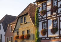 Germany, Lower Franconia, Volkach, Historical houses on the market place — Stock Photo
