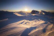 Італія, Південний Тіроль, Доломітових Альп, Lagazuoi на заході сонця — стокове фото