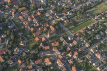 Germany, Lower Saxony, Hildesheim, aerial view with church St. Kunibert and Sorsum — Stock Photo