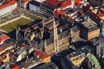 Germany, Bavaria, Munich, Old Townhall and Marienplatz — Stock Photo