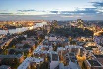 Germany, Hamburg, Cityscape in the evening — Stock Photo