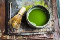 Detailansicht von Chasen und Chawan Matcha Tee — Stockfoto