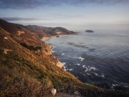 National Scenic Byway, Big Sur, Coastline at sunset, Pacific Coast, California, USA — Stock Photo