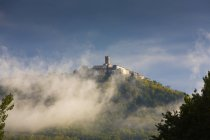 Croatia, Istria, Motovun behind waft of mist — Stock Photo