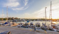 Greece, Rhodes, boats at Mandraki harbour — Stock Photo