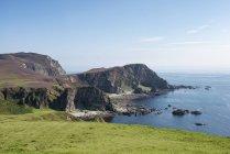 Regno Unito, Scozia, Ebridi Interne, Isola di Islay, costa rocciosa a Mull of Oa — Foto stock
