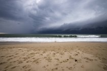 France, Lacanau Ocean, thunderclouds  on the beach — Stock Photo