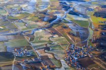 Germany, Bavaria, aerial view of Wolfratshausen in winter — Stock Photo
