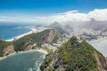 Brazil, Rio de Janeiro, Botafogo, Copacabana from Sugarloaf Mountain — Fotografia de Stock