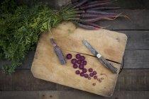 Нарізаної моркви Бузковий туман — стокове фото