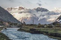 Switzerland, Grisons, Swiss Alps, Parc Ela, Jula river — Stock Photo