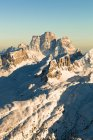 Alpes italiennes en hiver dans la lumière du soir — Photo de stock