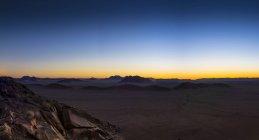 Africa, Namibia, Hardap, Hammerstein, Tsaris Mountains in the evening — Stock Photo