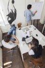 Creativi uomini d'affari che hanno un incontro in un ufficio moderno — Foto stock