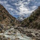 Nepal, Khumbu, Everest region, Ama Dablam  during daytime — Stock Photo