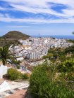 Spain, Andalusia, Costa del Sol, View of Frigiliana  during daytime — Stock Photo