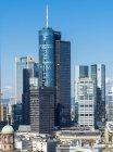 Alemanha, Frankfurt, Hesse, distrito financeiro, Helaba e Deutsche Bank — Fotografia de Stock