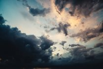 View of Thunderclouds at sky at evening — Stock Photo