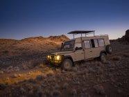 Africa, Namibia, Namib Desert, Car in Kulala Wilderness Reserve — Stock Photo