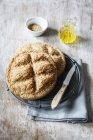 Лаваш хлеб из непросеянной муки спельты — стоковое фото