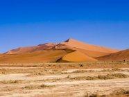 Namibia, Hardap, Sossusvlei, Dune di sabbia al Parco Nazionale Namib-Naukluft — Foto stock