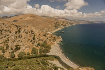 Vista aérea de Grécia, Creta, do litoral sul — Fotografia de Stock