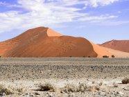 África, Namíbia, Hardap, Sossusvlei, deserto do Namibe, Namib-Naukluft National Park, dunas de areia — Fotografia de Stock