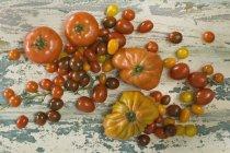 Diversi pomodori freschi — Foto stock