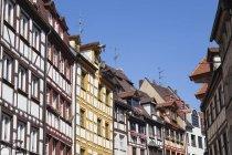 Germania, Baviera, Norimberga, Case a due falde, case a graticcio — Foto stock