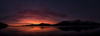 Vereinigtes Königreich, Schottland, loch linnhe bei Sonnenuntergang — Stockfoto