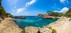 Spagna, Baleari, Mallorca, Santanyi, vista della costa di Cala S'Amonia — Foto stock