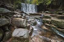 Чехия, Крконосские горы, Мумлавский водопад осенью — стоковое фото