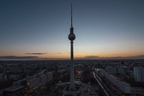 Germany, Berlin, view over the city at sunset — Stock Photo