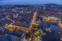Germany, Lower Saxony, Goslar, Christmas market in the evening — Stock Photo