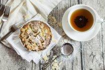 Tartelette rabarbaro con mandorle — Foto stock