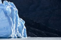 Sud America, Cile, regione di Magallanes y la Antartica Chilena, Cordigliera del Paine, ghiacciaio Grey e Lago Grey, Parco nazionale di Torres del Paine — Foto stock