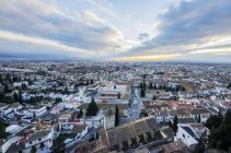 Stadtansicht-Blick vom Stadtteil Realejo-San Matias, Granada, Andalusien, Spanien — Stockfoto
