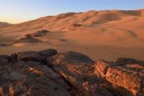 Africa, Argelia, Sahara, Parque Nacional de Tassili n ' Ajjer - foto de stock