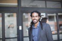 Портрет молодих афро-американських бізнесмен — стокове фото