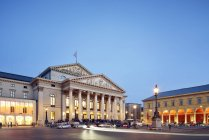 Germany, Bavaria, Munich, National Theatre at blue hour — Stock Photo
