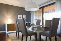Interior of Modern furnished dining room — Stock Photo