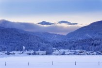 Germany, Bavaria, Upper Bavaria, Chiemgau, Marquartstein, winter morning — Stock Photo