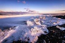Iceand, plage de Jokulsarlon, icebergs minis — Photo de stock