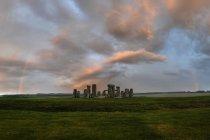Gran Bretagna, Inghilterra, Stonehenge in serata — Foto stock
