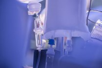 Drip bottle at hospital inbterior — Stock Photo