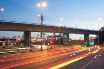 Allemagne, Hambourg, carrefour du port — Photo de stock