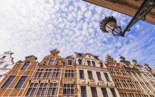 Belgium, Brussels, historical houses, row of houses, candelabrum — Stock Photo